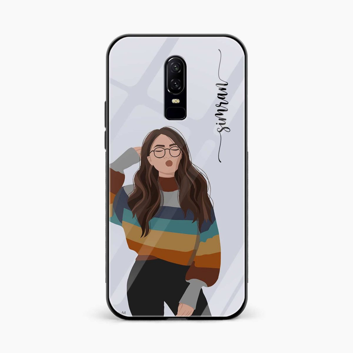 its me front view oneplus 6 back cover