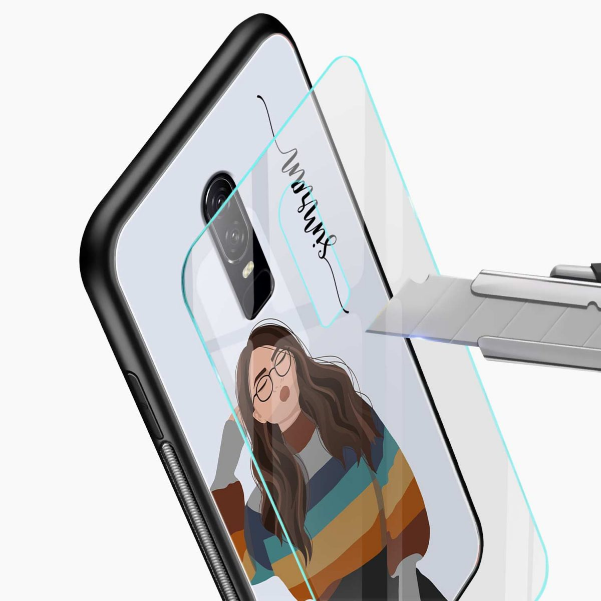 its me glass view oneplus 6 back cover