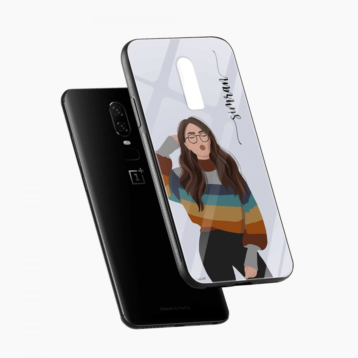 its me diagonal view oneplus 6 back cover