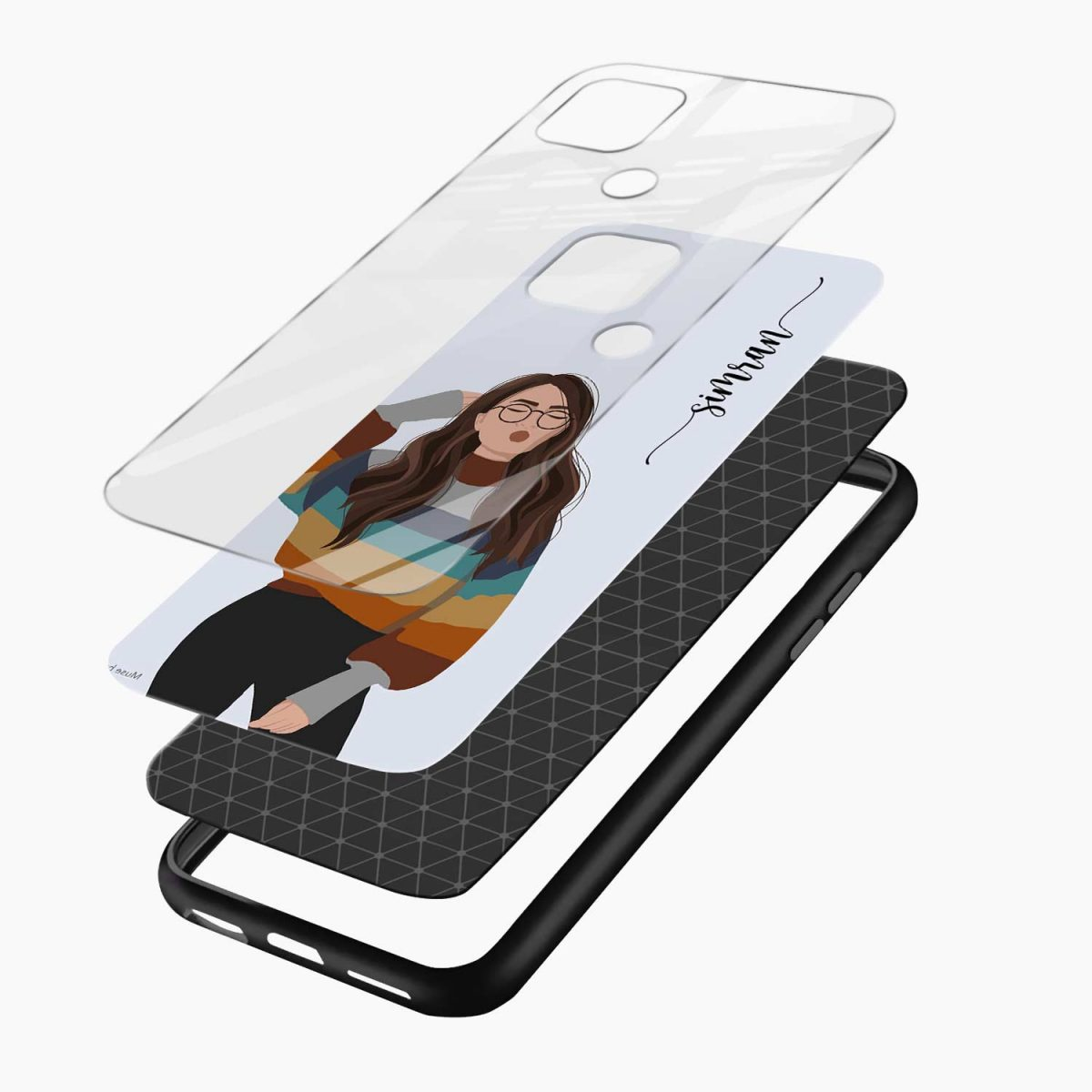 its me layers view oppo a15 back cover