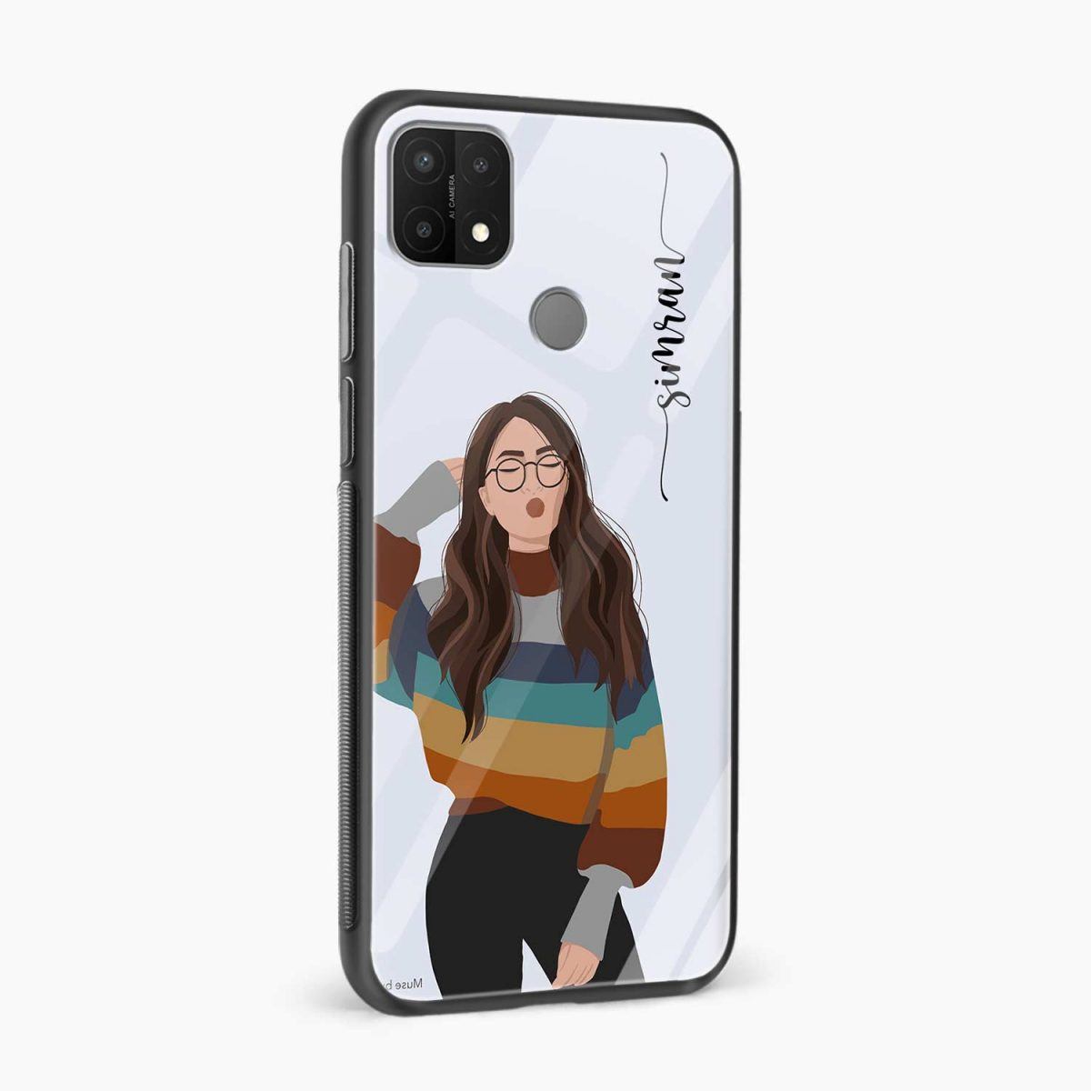 its me side view oppo a15 back cover