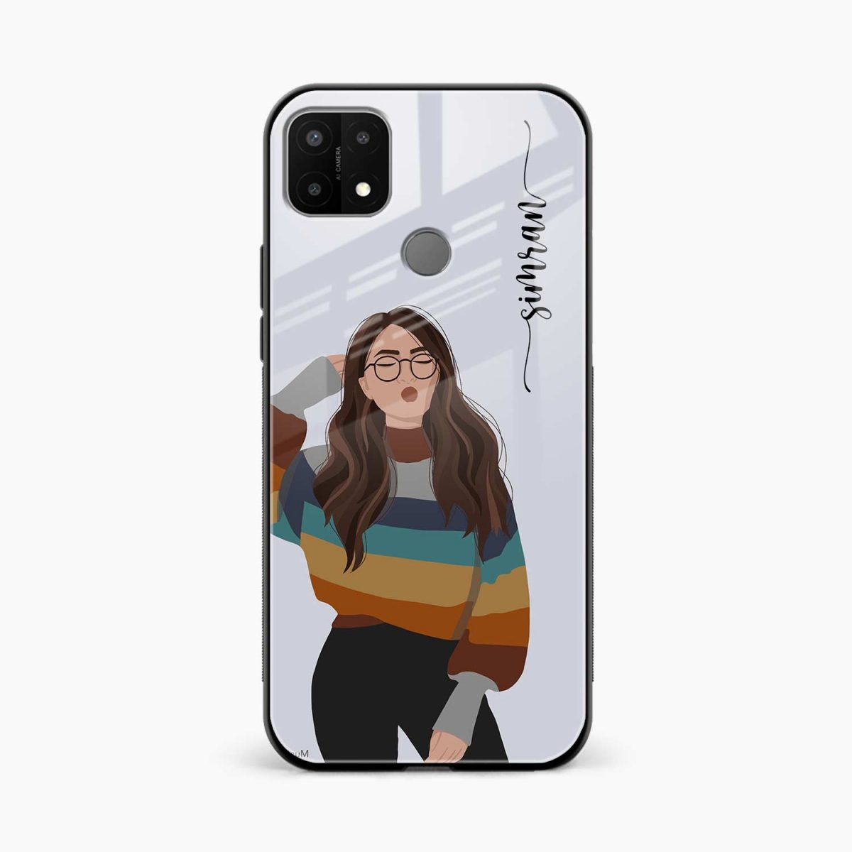 its me front view oppo a15 back cover