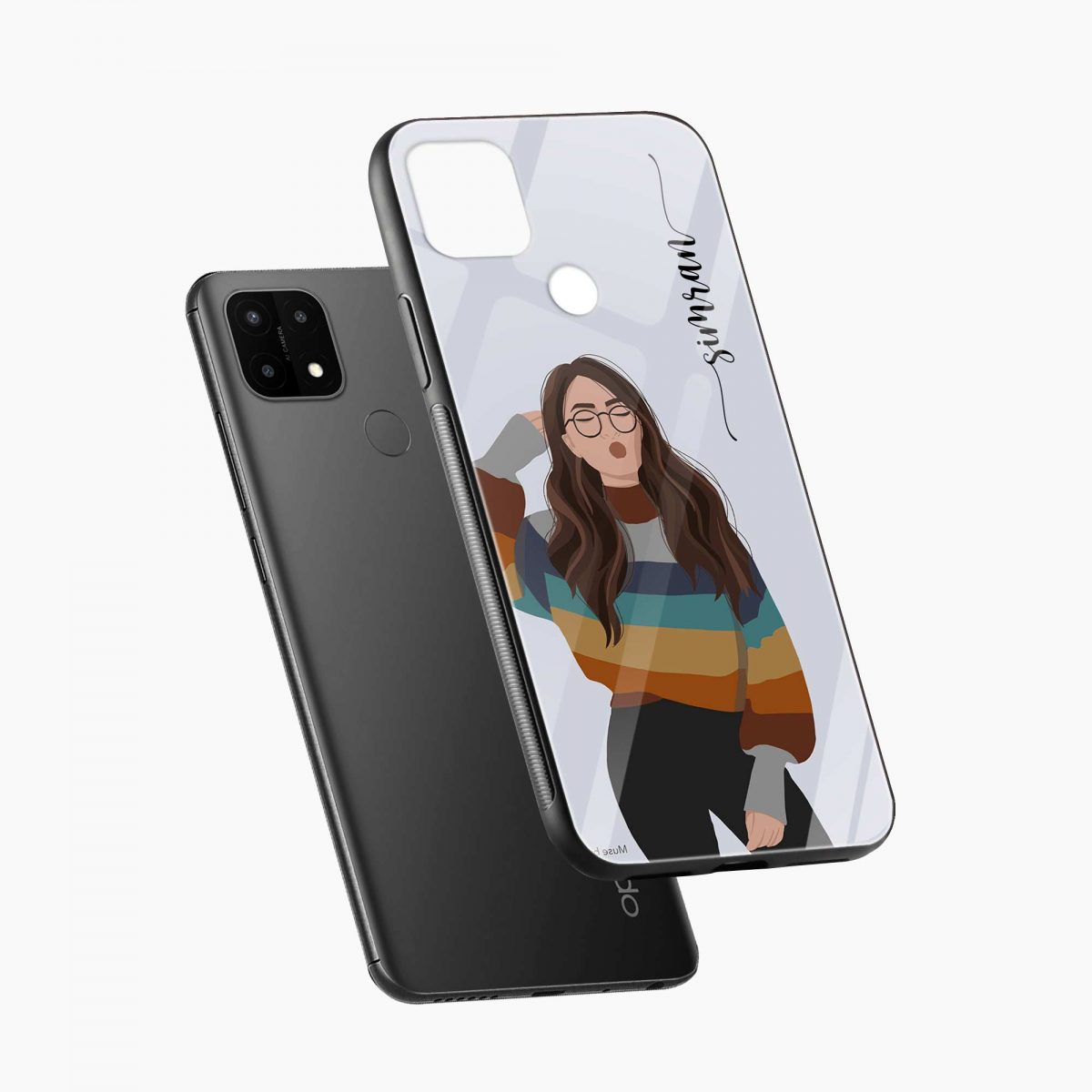 its me diagonal view oppo a15 back cover