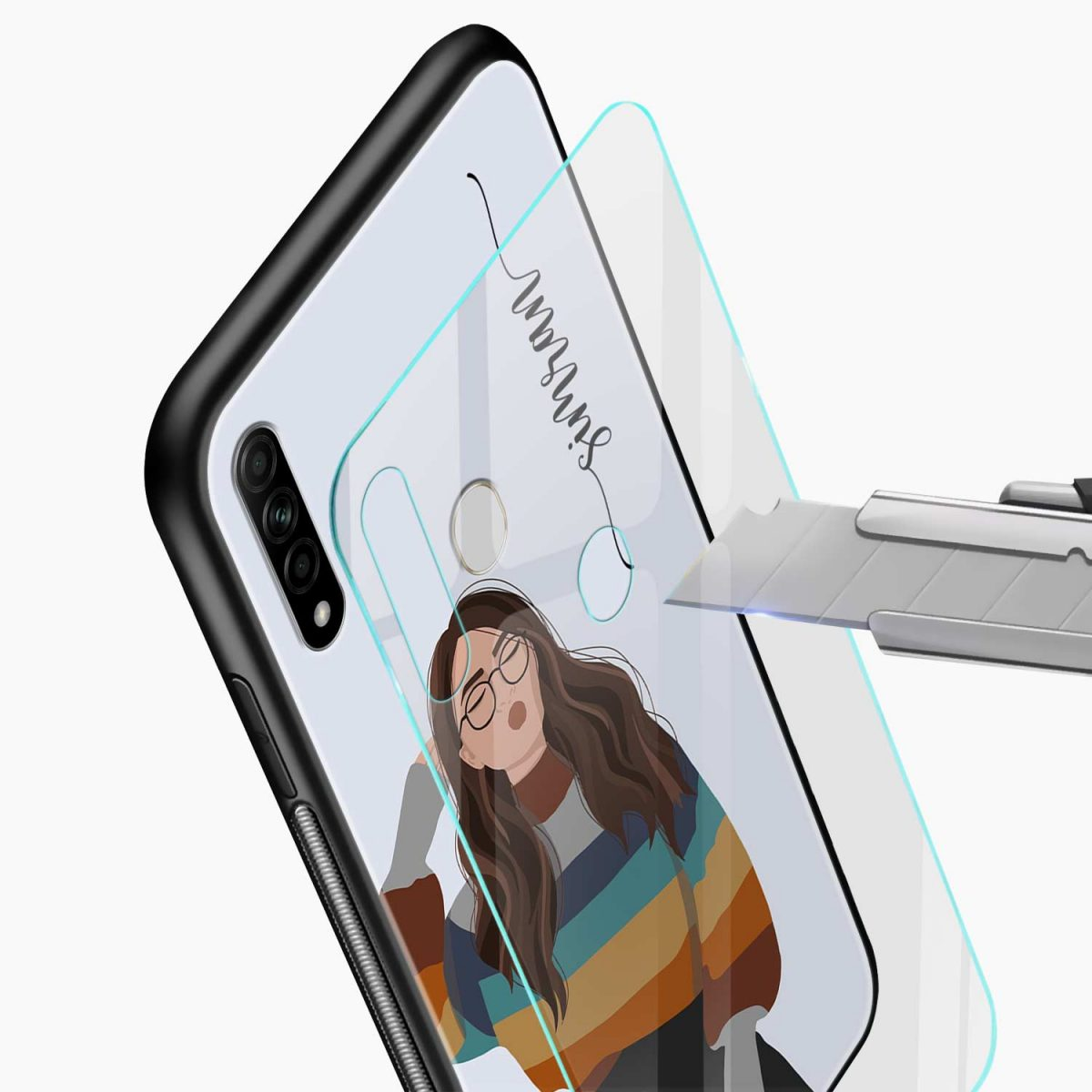 its me glass view oppo a31 back cover