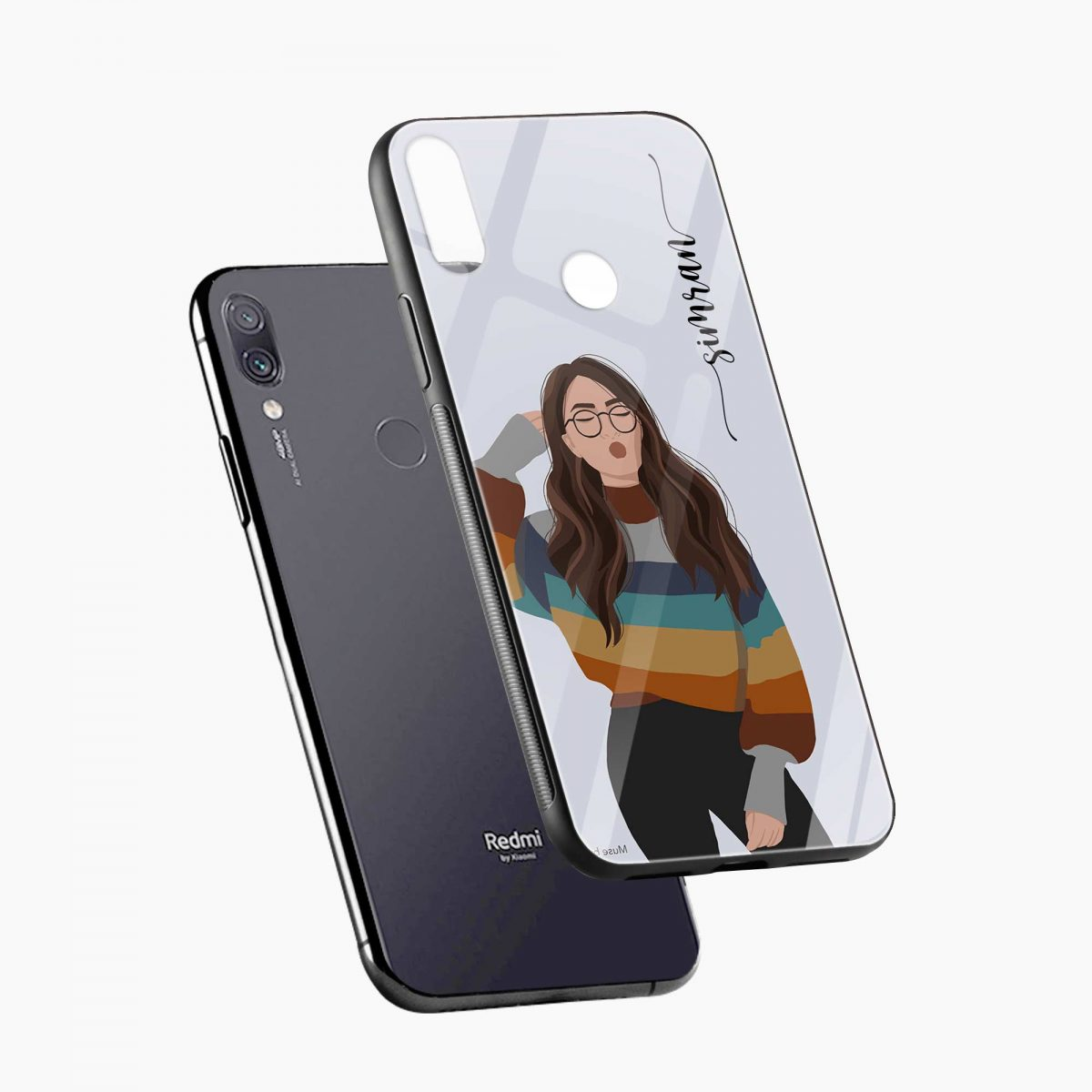 its me diagonal view redmi note7 back cover