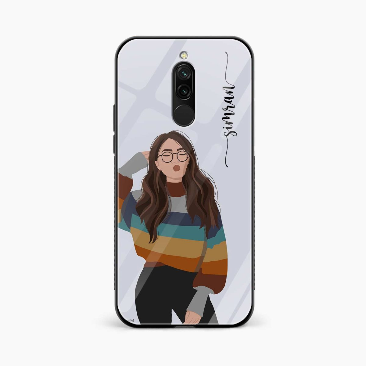 its me front view redmi 8 back cover