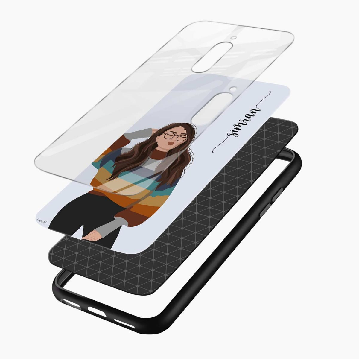 its me layers view redmi 8 back cover