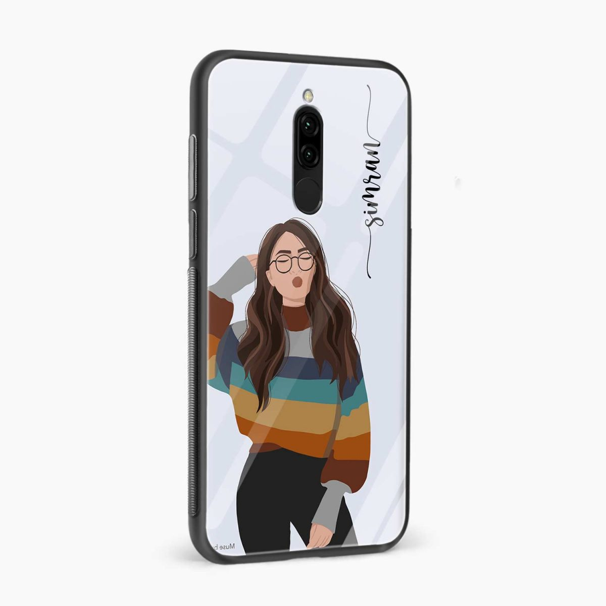 its me side view redmi 8 back cover