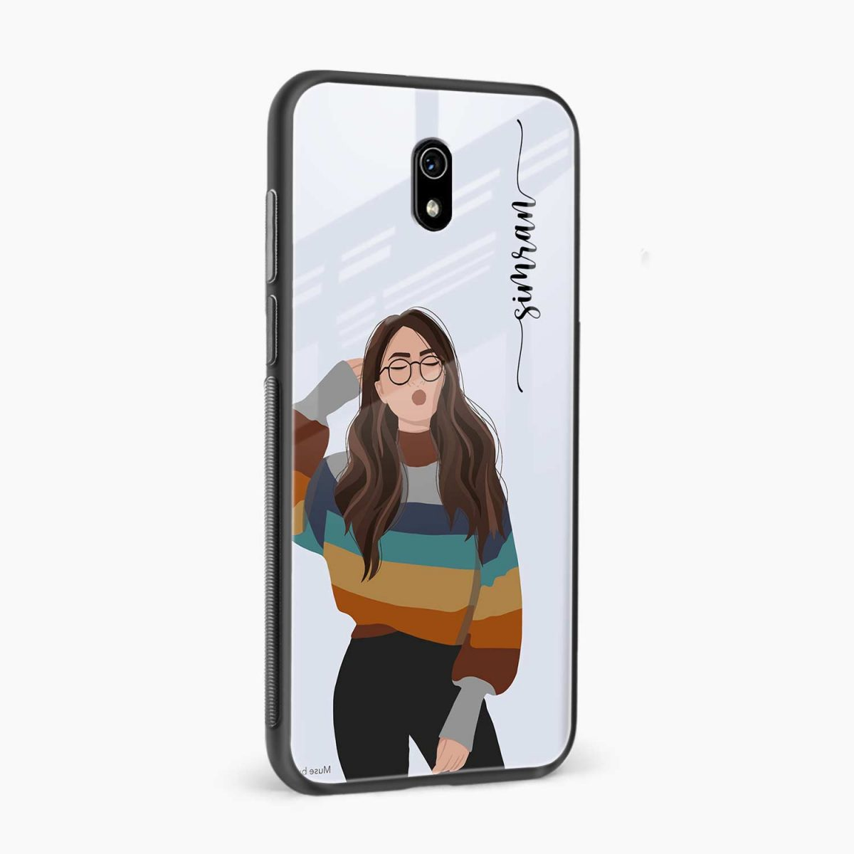 its me side view redmi 8a back cover