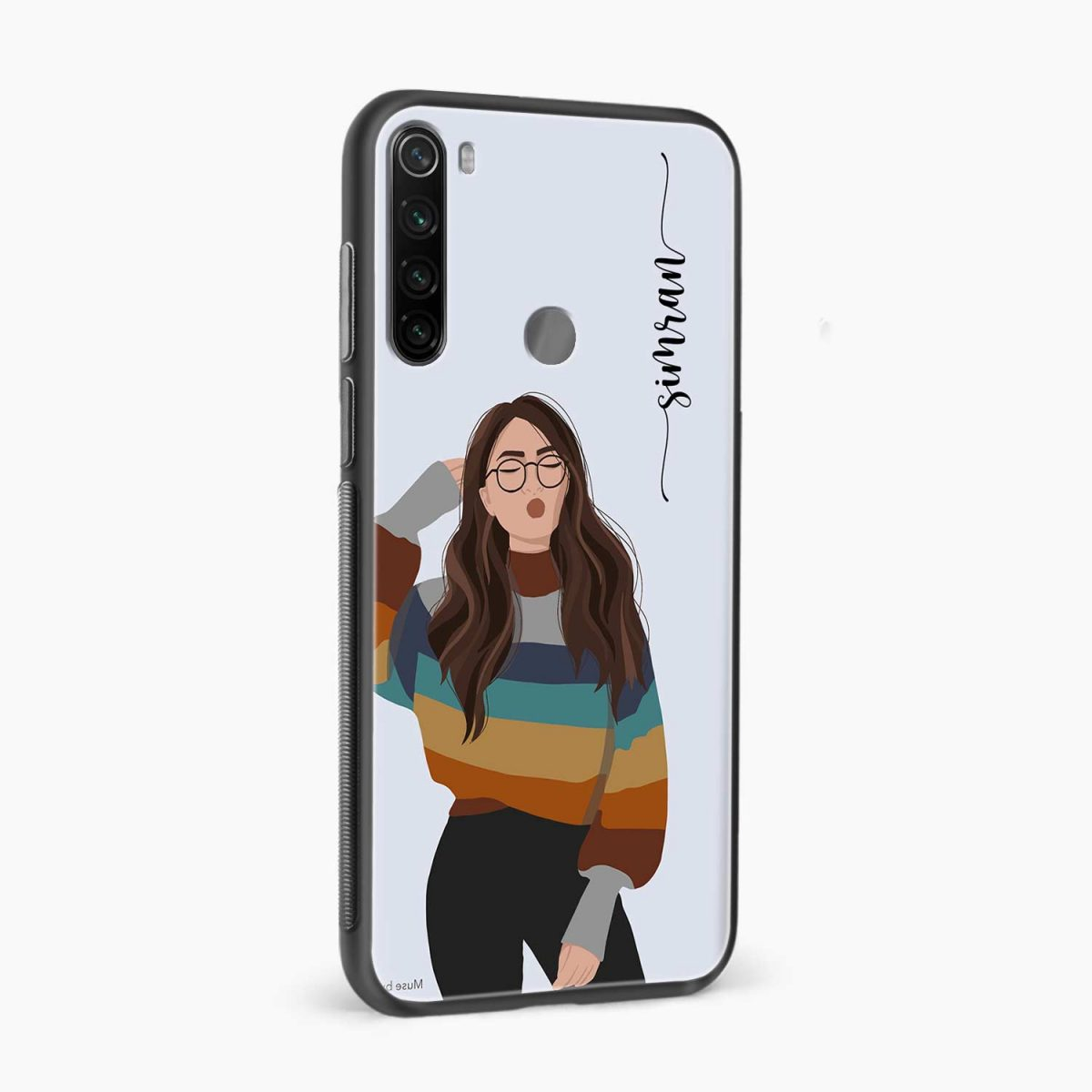 its me side view redmi note 8 back cover