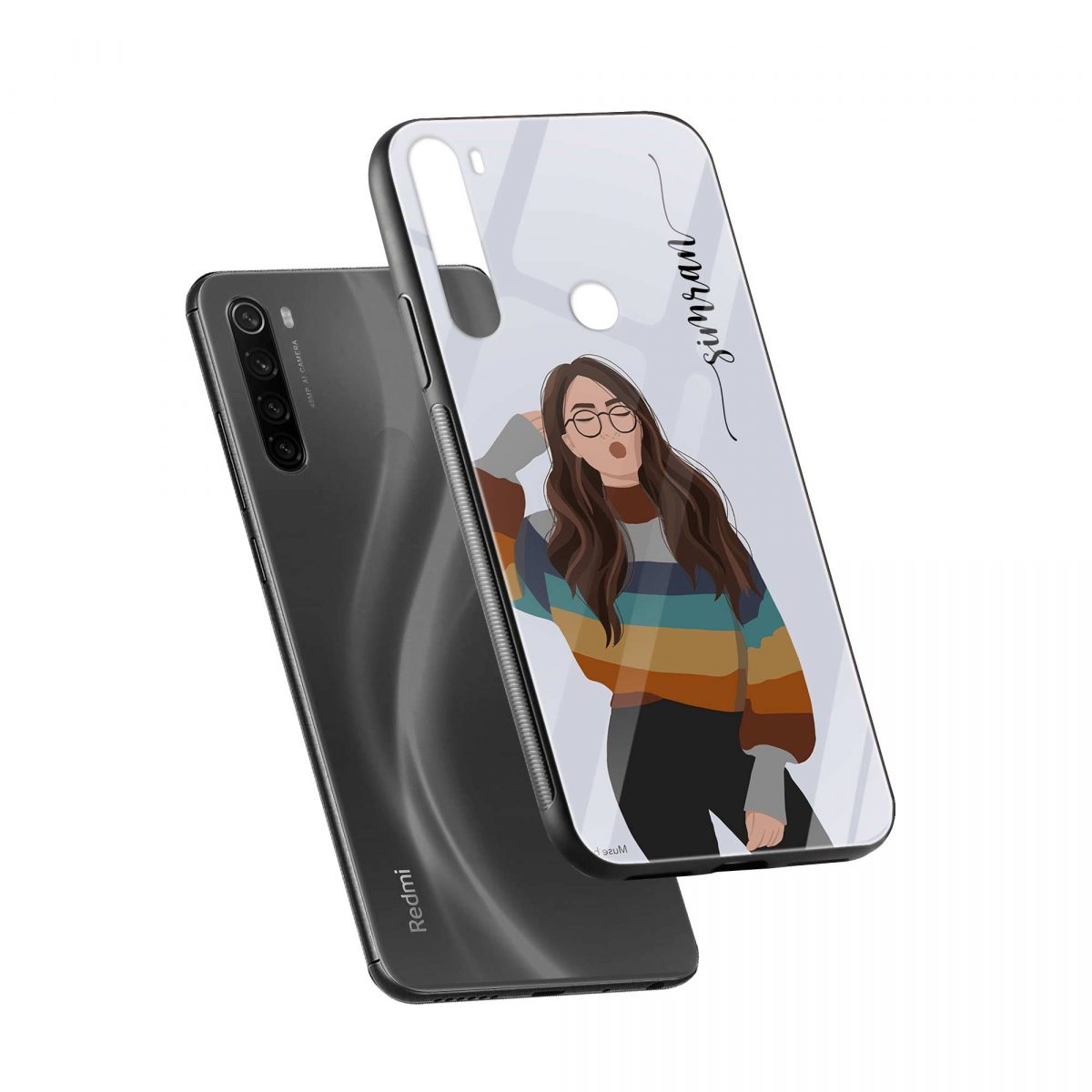 its me diagonal view redmi note 8 back cover