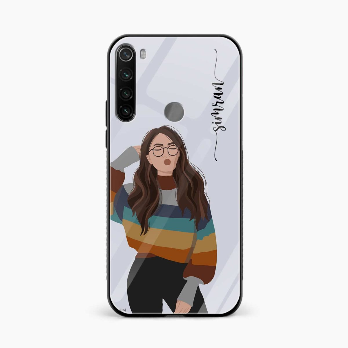 its me front view redmi note 8 back cover