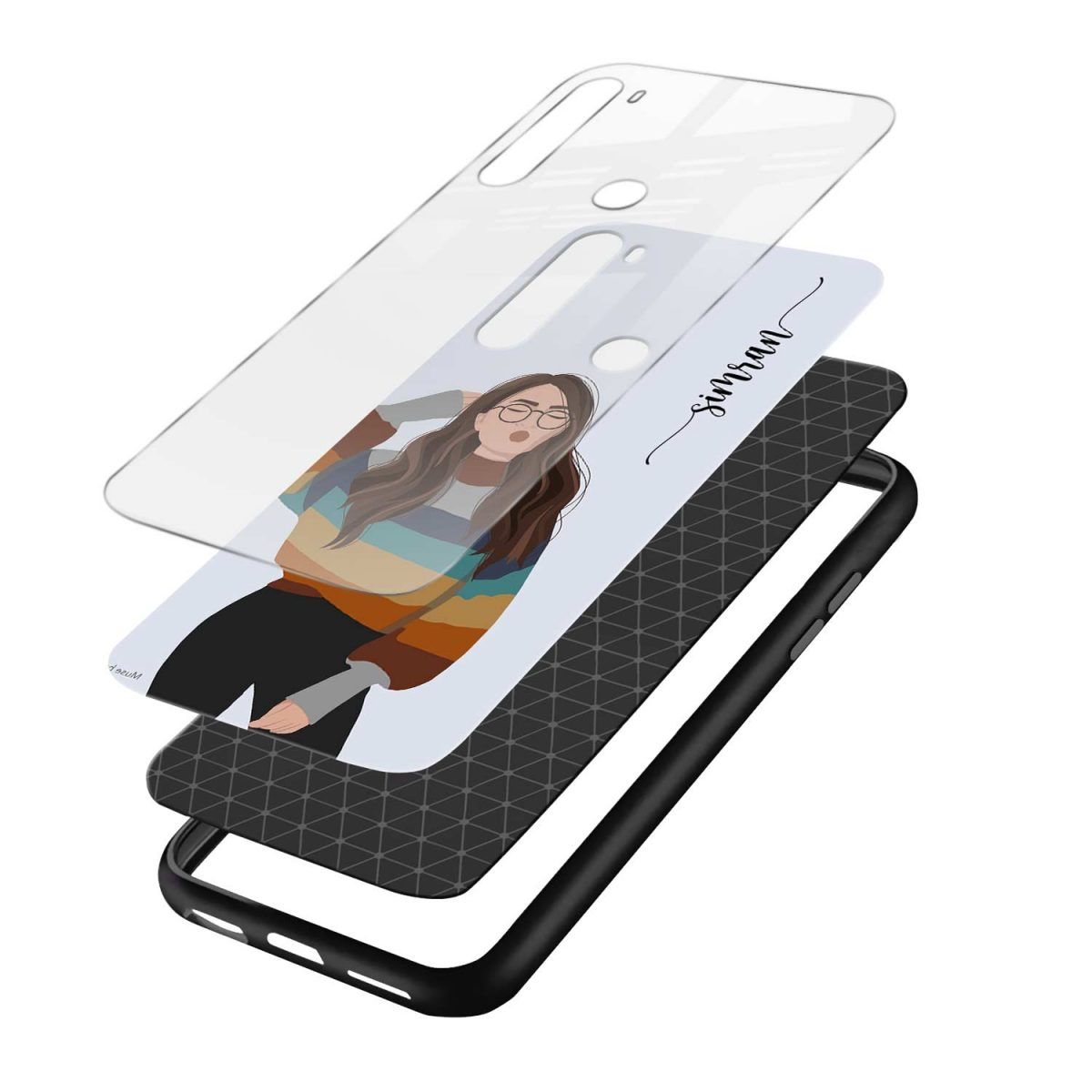its me layers view redmi note 8 back cover