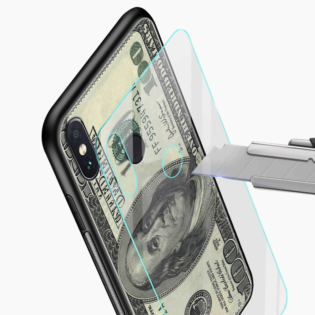 dollar redmi note 5 pro back cover glass view