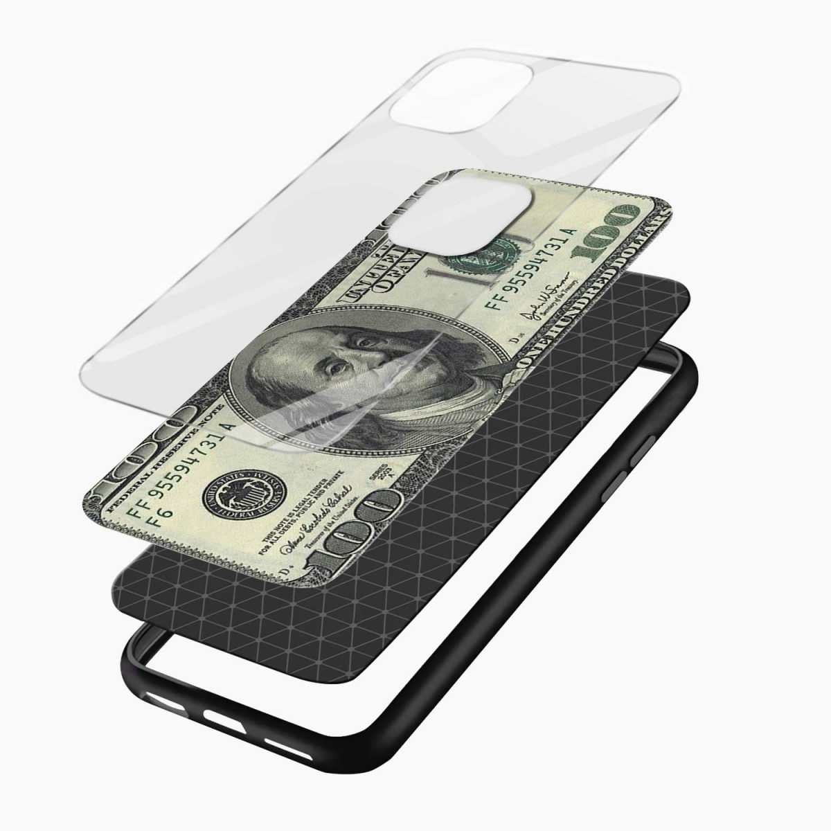 dollar iphone pro back cover layers view