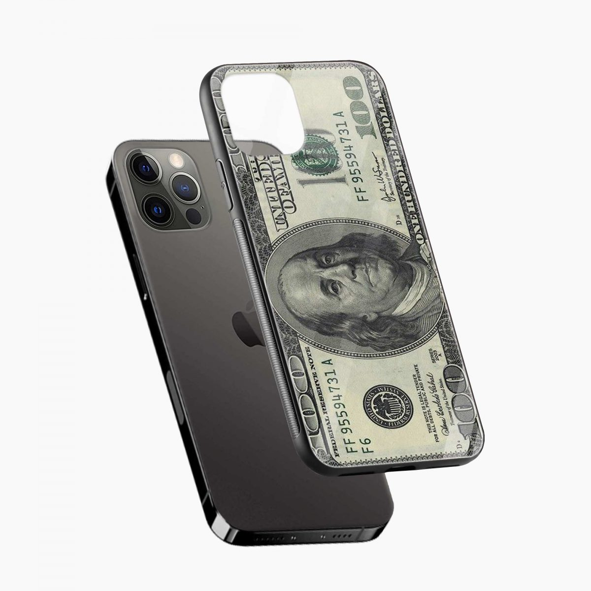 dollar iphone pro back cover diagonal view