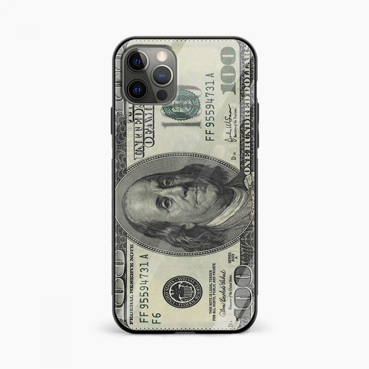 dollar iphone pro back cover front view