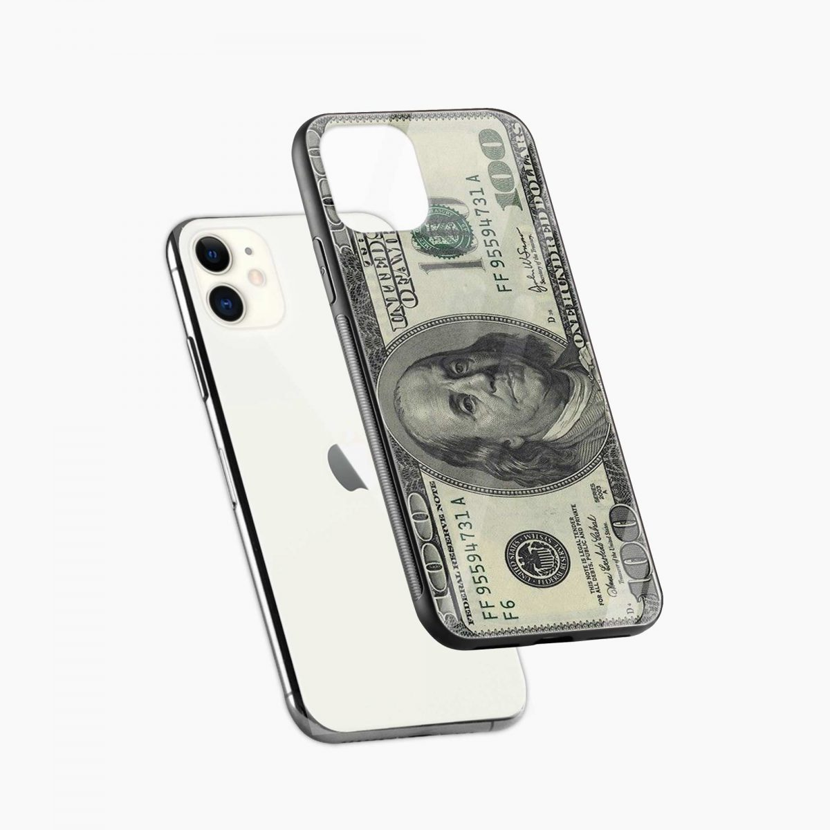dollar iphone back cover diagonal view