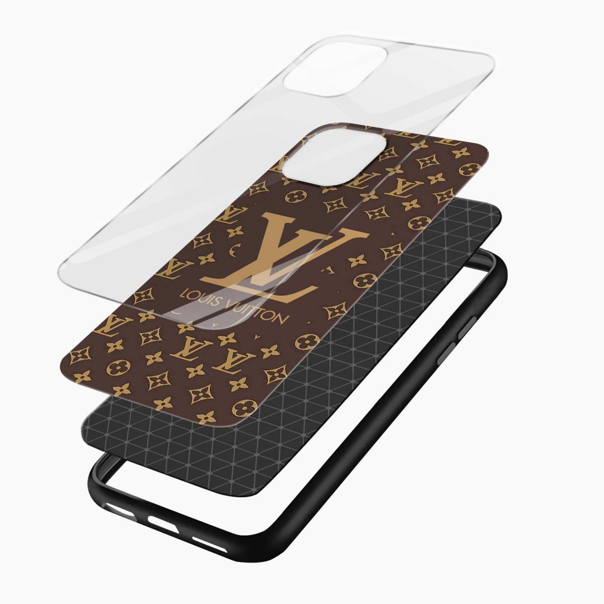 louis vuitton iphone pro back cover layers view