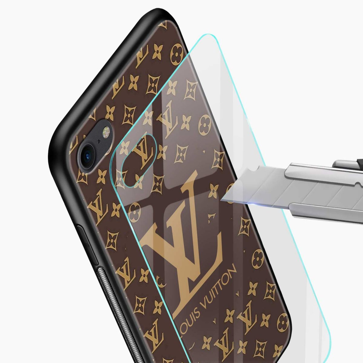 louis vuitton glass view apple iphone 6 7 8 se back cover