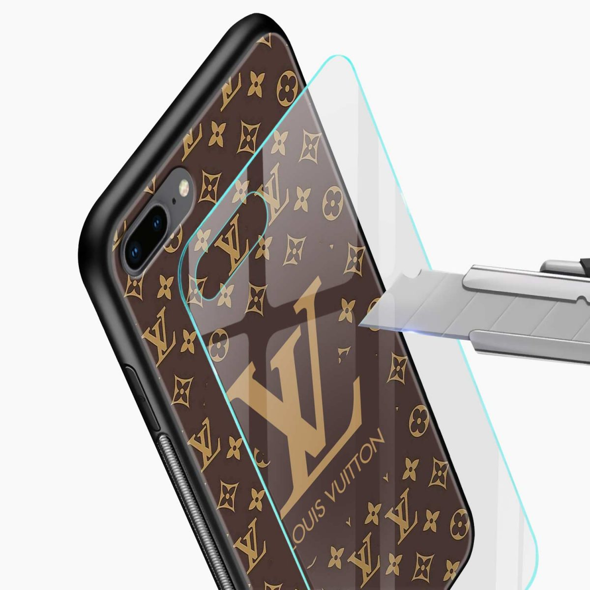 louis vuitton glass view apple iphone 7 8 plus back cover