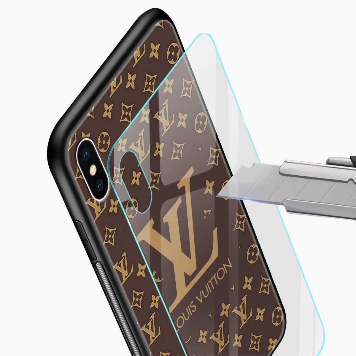 louis vuitton glass view apple iphone x xs max back cover