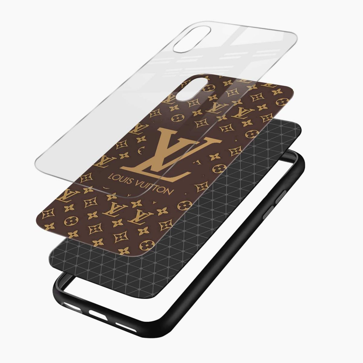 louis vuitton layers view apple iphone x xs max back cover