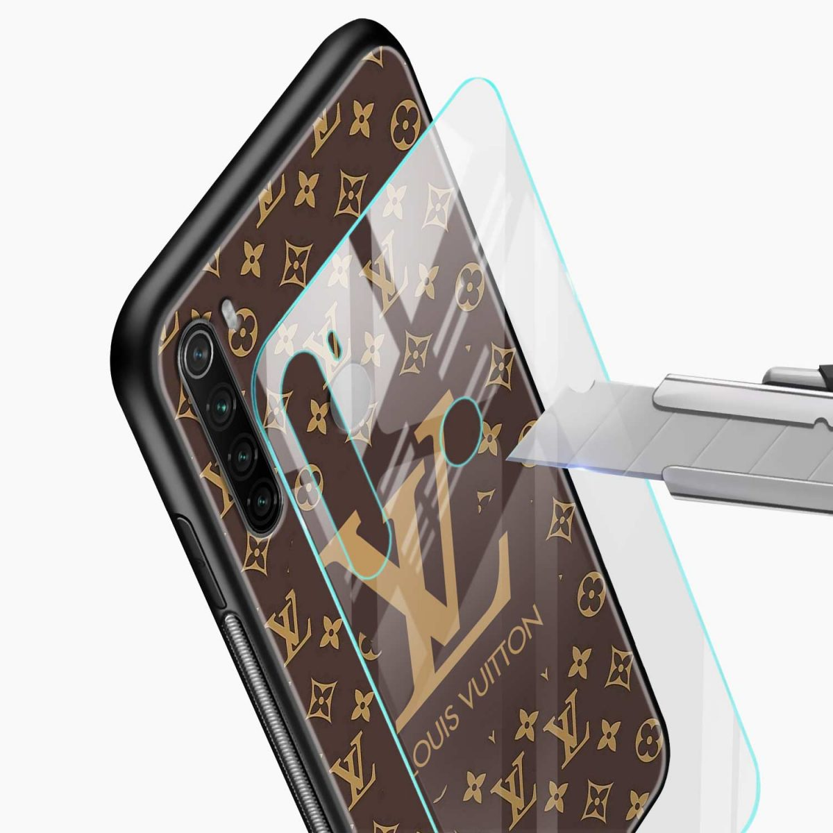 louis vuitton glass view redmi note 8 back cover