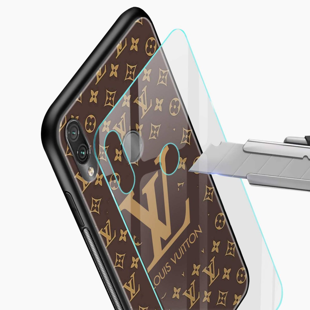 louis vuitton glass view redmi note7 back cover