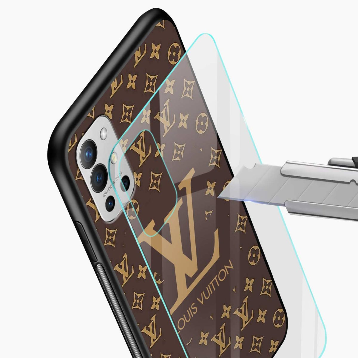 louis vuitton glass view oneplus 9r back cover