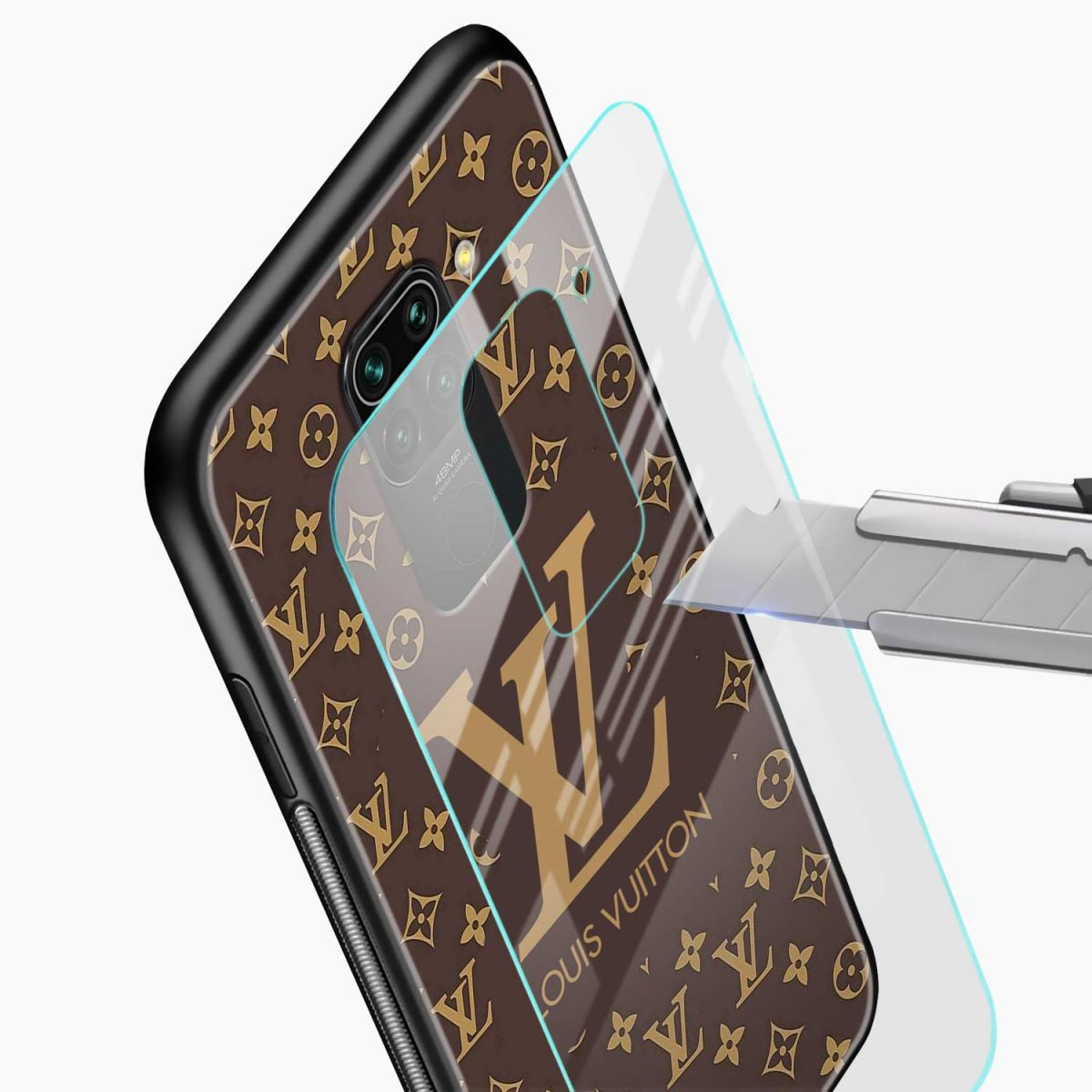 louis vuitton glass view redmi note 9 back cover