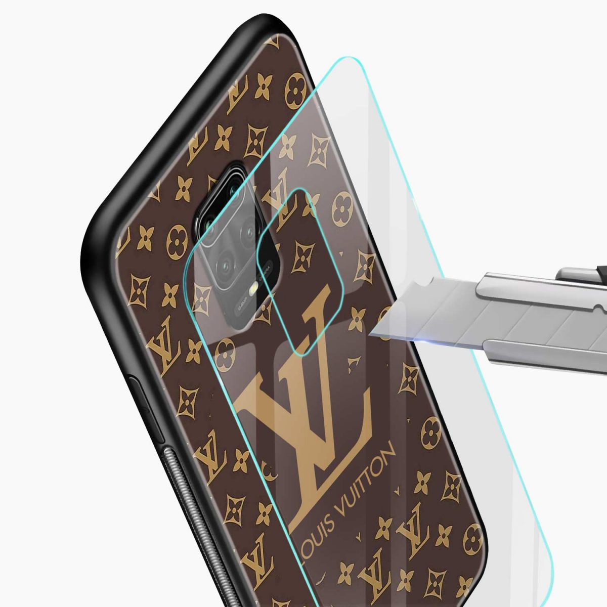 louis vuitton glass view redmi note9 back cover