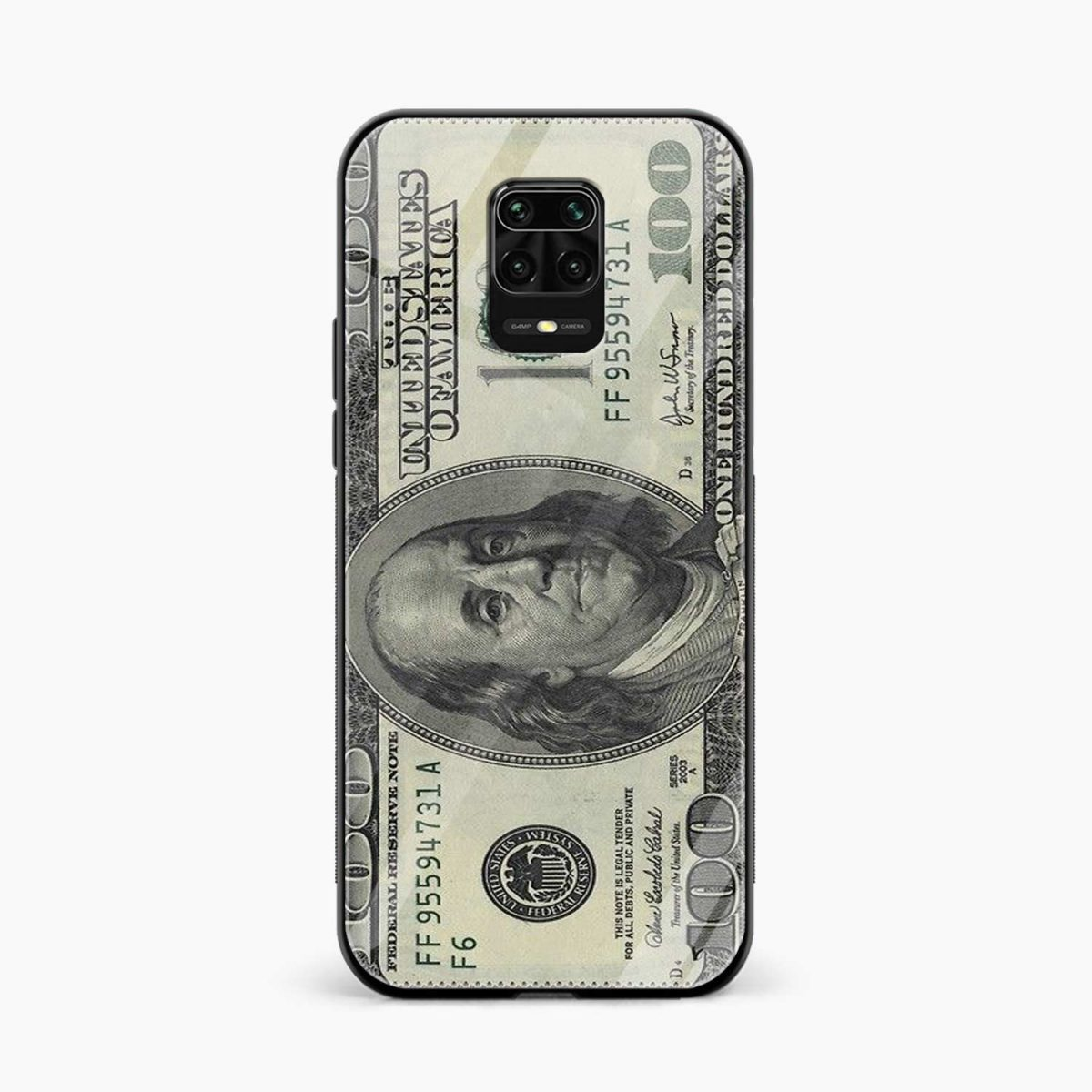 dollar front view redmi note9 back cover