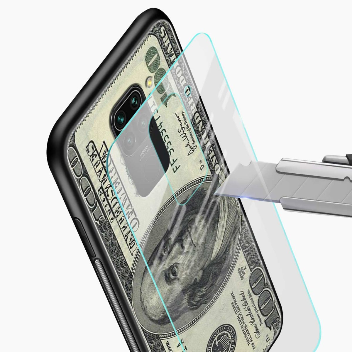 dollar glass view redmi note 9 back cover