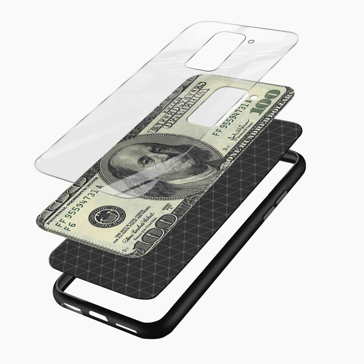 dollar layers view redmi note 9 back cover
