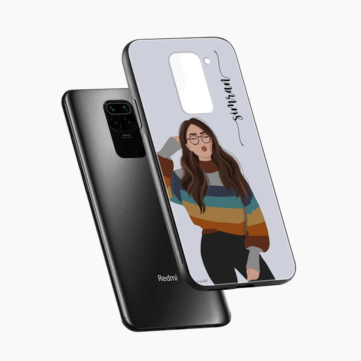 its me diagonal view redmi note 9 back cover