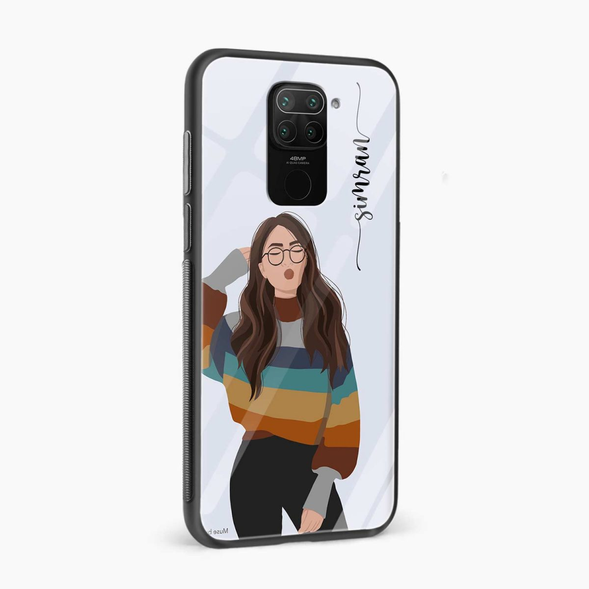 its me side view redmi note 9 back cover