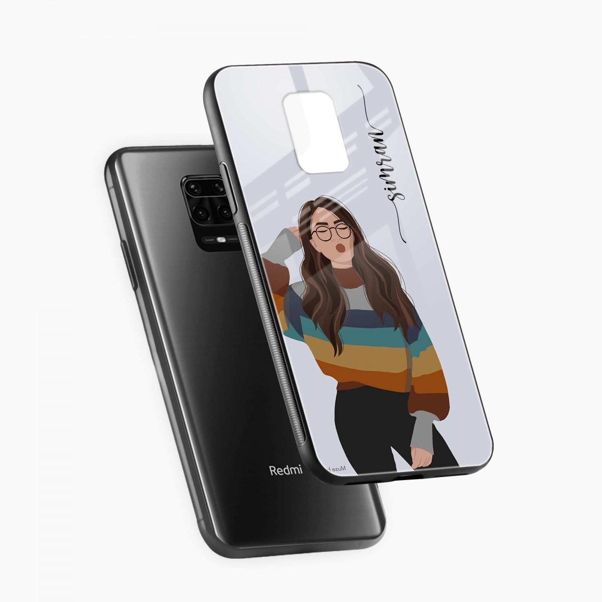 its me diagonal view redmi note9 back cover
