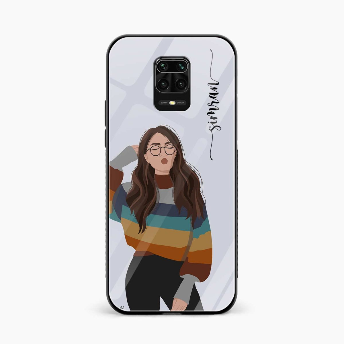 its me front view redmi note9 back cover