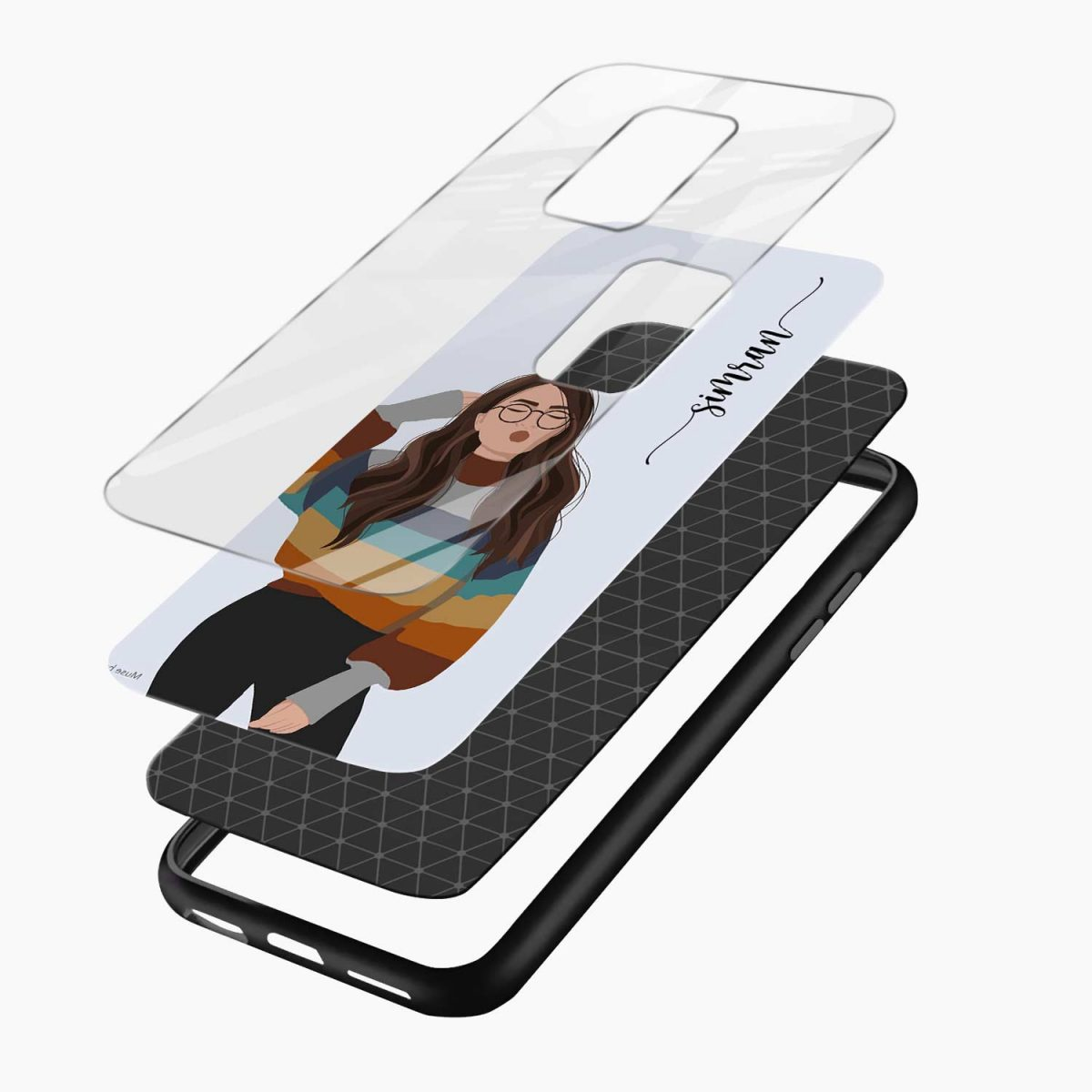 its me layers view redmi note9 back cover