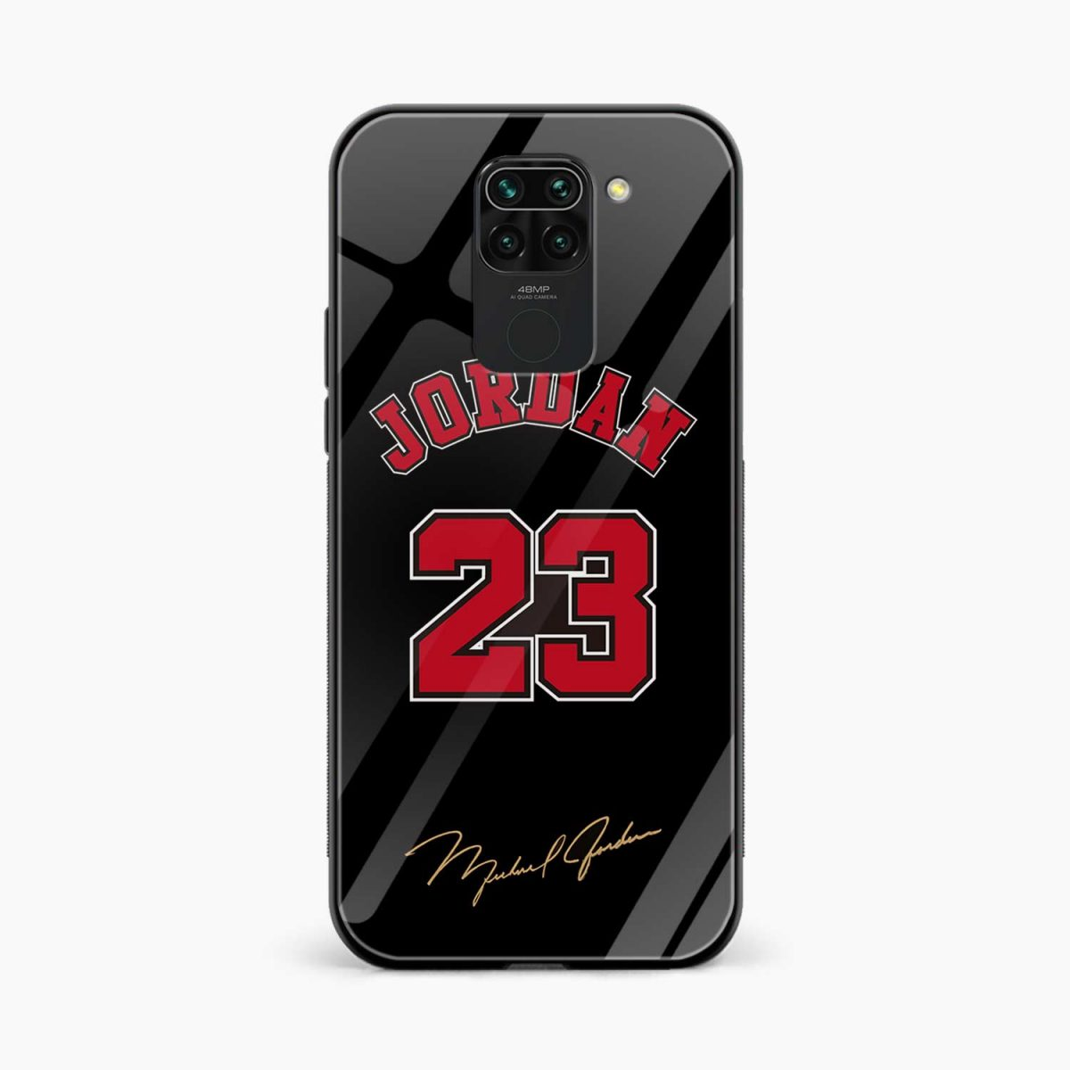 jordan 23 front view redmi note 9 back cover