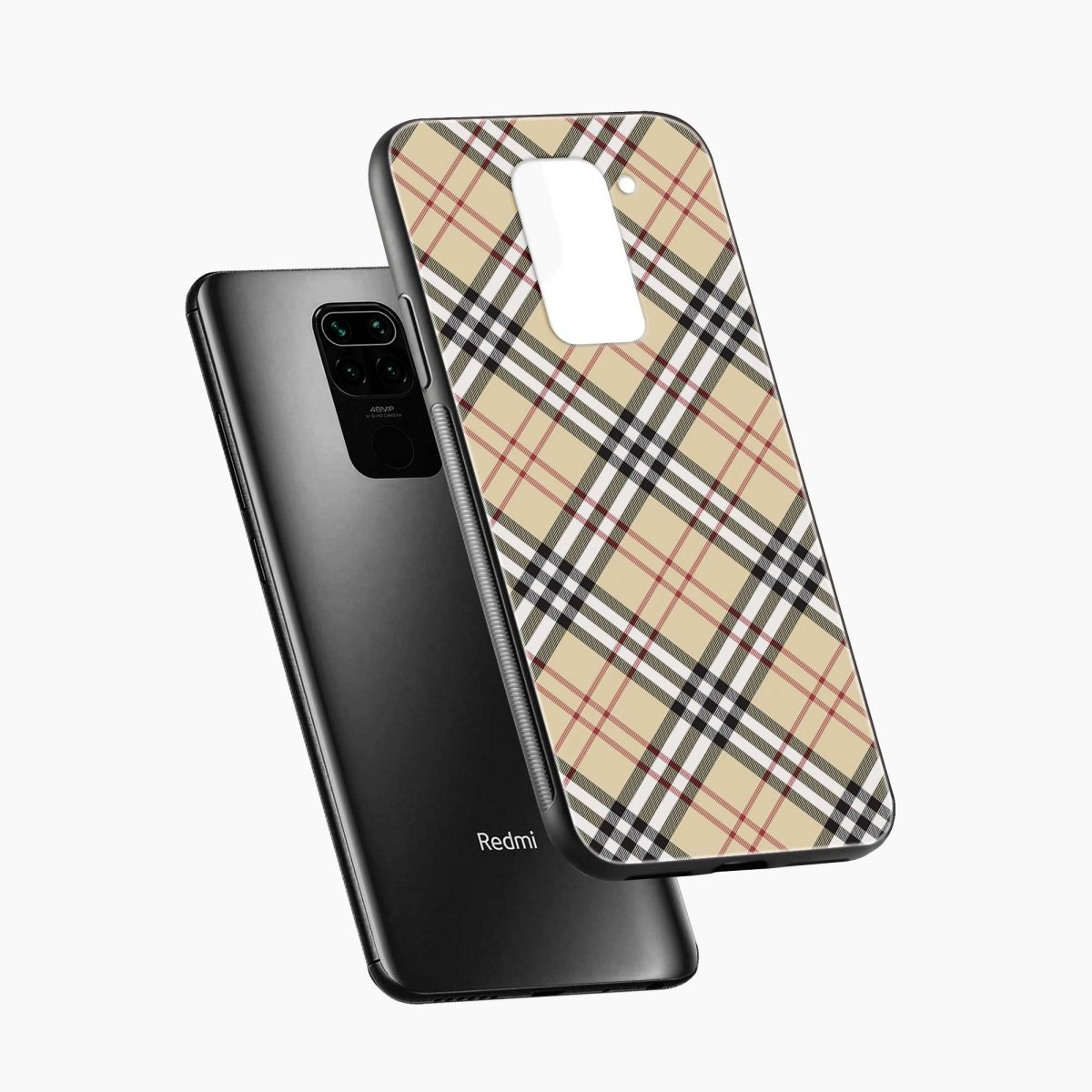 cross lines diagonal view redmi note 9 back cover