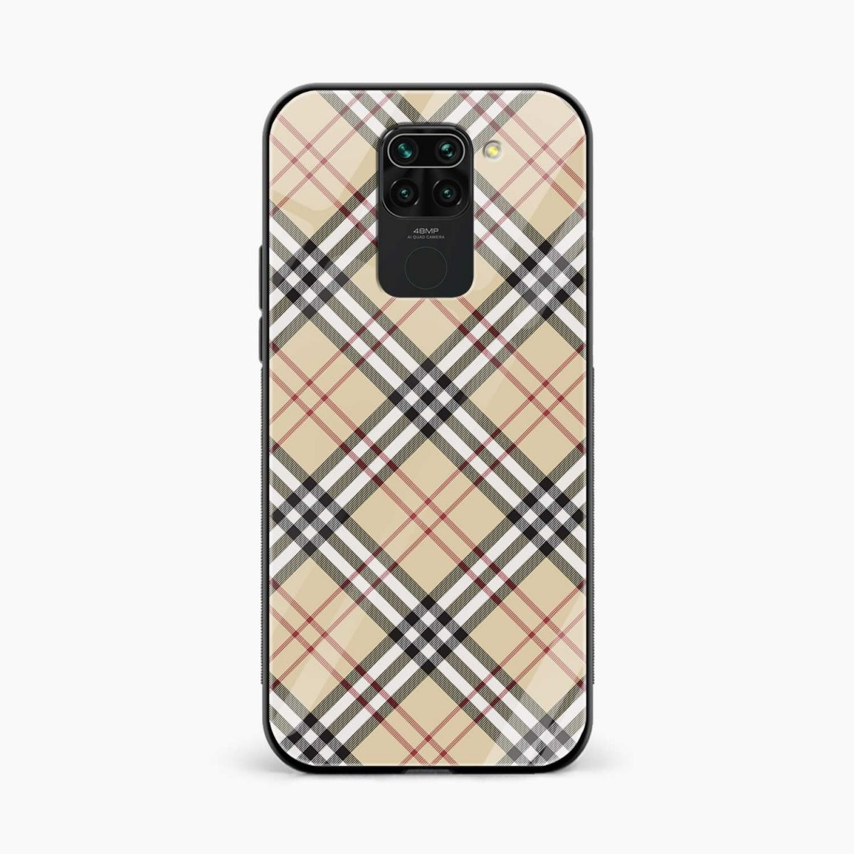 cross lines front view redmi note 9 back cover