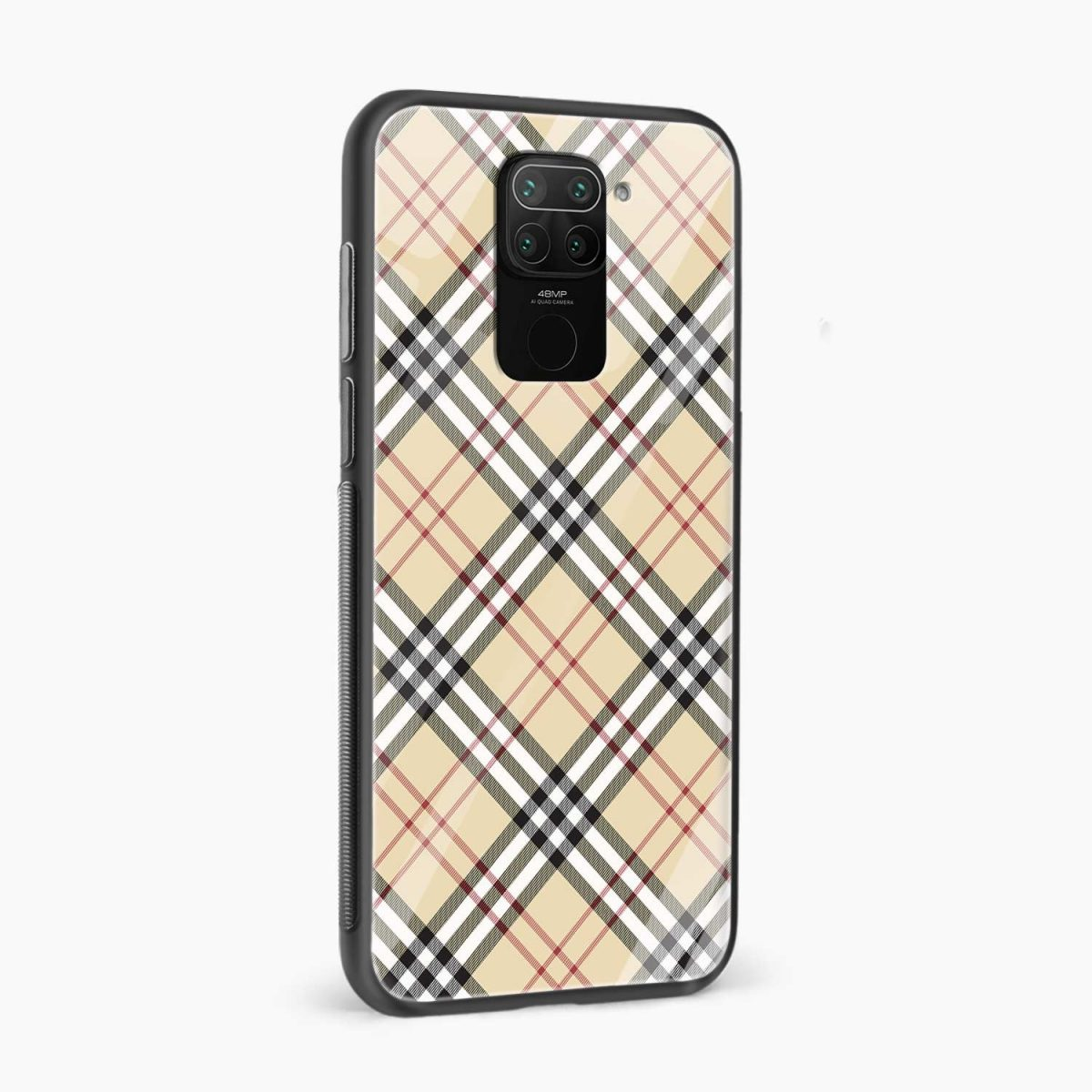 cross lines side view redmi note 9 back cover