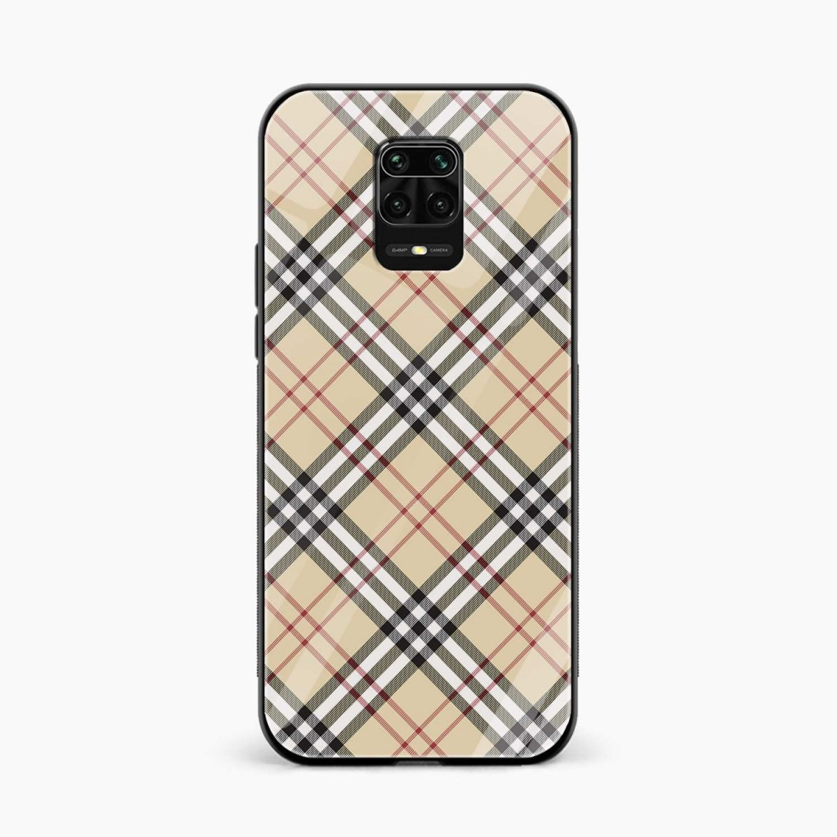 cross lines front view redmi note9 back cover