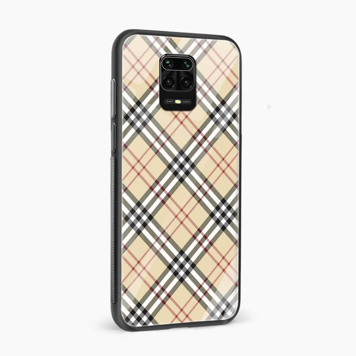 cross lines side view redmi note9 back cover