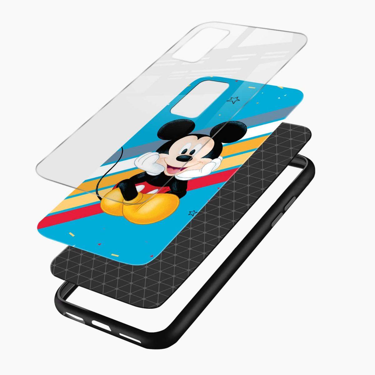 cute mickey mouse disney cartoon layers view vivo v20 back cover