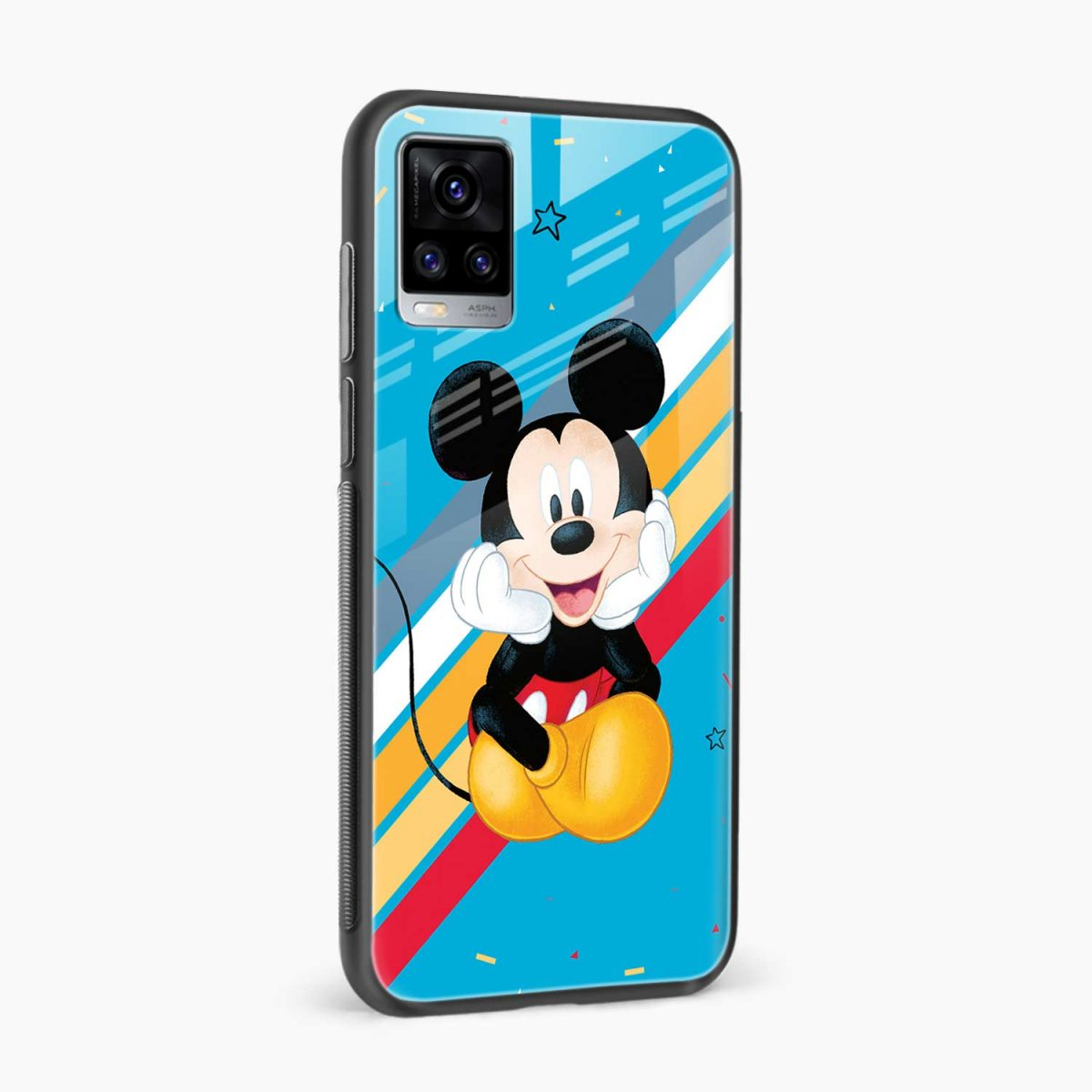 cute mickey mouse disney cartoon side view vivo v20 back cover