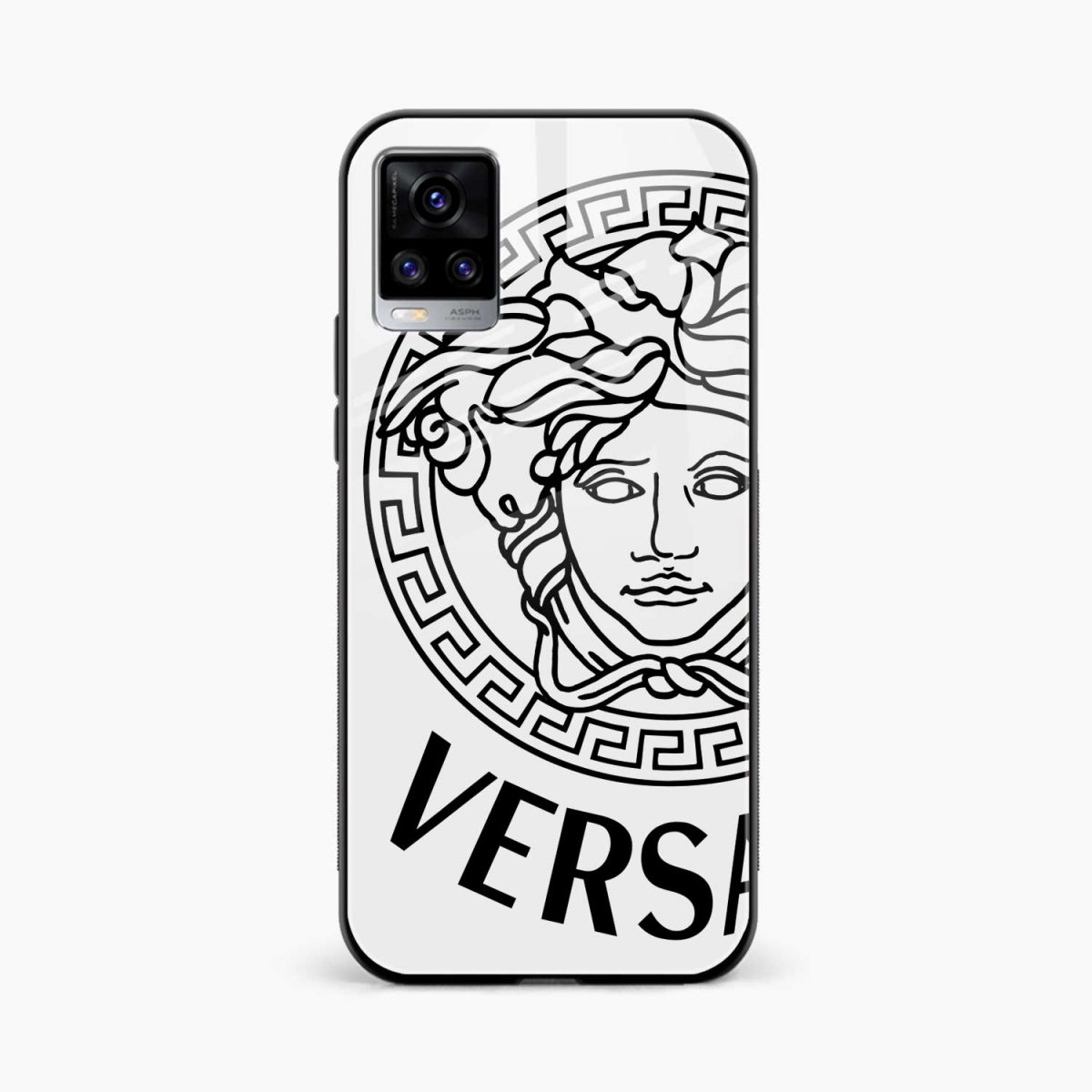 versace black white front view vivo v20 back cover
