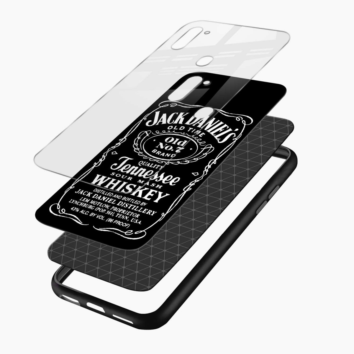 jack daniels whiskey layers view samsung galaxy m11 back cover